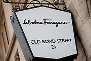 Bond Street Salvatore Ferragamo sign central London