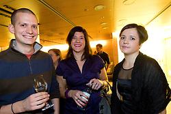 Andrej Kandare, Maja Mastnak and Katja Bubnic at Slovenian Sportsman of the year and Slovenian Sportswoman of the year 2010 annual awards presented on the base of Slovenian sports reporters, on December 22, 2010 in Cankarjev dom, Ljubljana, Slovenia. (Photo By Vid Ponikvar / Sportida.com)