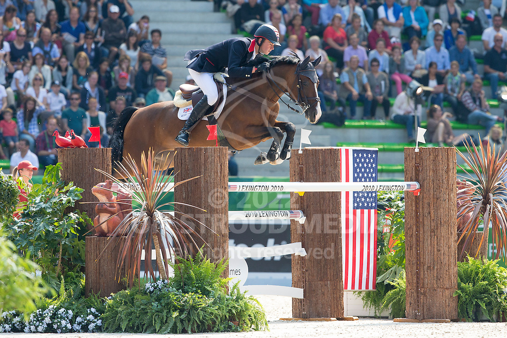 Spencer Roe, (GBR), Wonder Why - First Round Team Competition Jumping Speed - Alltech FEI World Equestrian Games™ 2014 - Normandy, France.<br /> © Hippo Foto Team - Leanjo De Koster<br /> 03-09-14