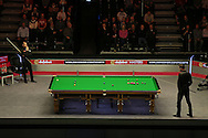 a general view of Barry Hawkins (Eng) v Mark Selby (Eng) , Quarter-Final match at the Dafabet Masters Snooker 2017, at Alexandra Palace in London on Friday 20th January 2017.<br /> pic by John Patrick Fletcher, Andrew Orchard sports photography.
