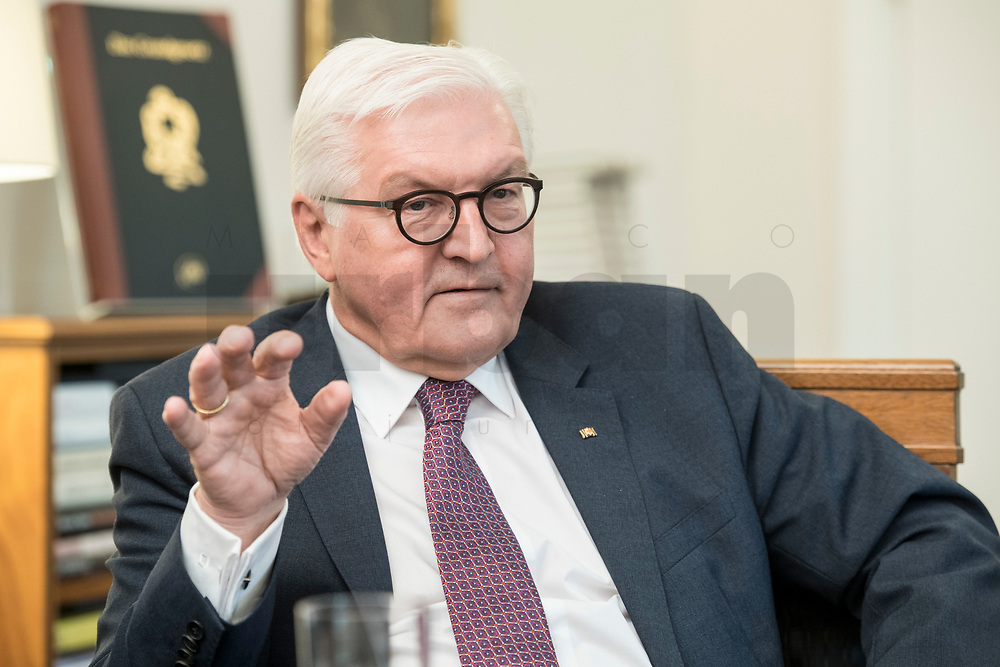 02 JUL 2018, BERLIN/GERMANY:<br /> Frank-Walter Steinmeier, Bundespraesident, waehrend einem Interview, Amtszimmer des Bundespraesidenten, Schloss Bellevue<br /> IMAGE: 20180702-01-035<br /> KEYWORDS: Bundespräsident