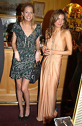 Left to right, the HON.SOPHIA HESKETH and AMANDA SHEPARD at a private dinner and presentation of Issa's Autumn-Winter 2005-2006 collection held at Annabel's, 44 Berkeley Square, London on 15th March 2005.<br /><br />NON EXCLUSIVE - WORLD RIGHTS