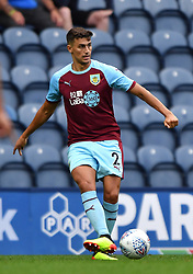 """Burnley's Matthew Lowton in action during a pre season friendly match at Deepdale, Preston. PRESS ASSOCIATION Photo. Picture date: Monday July 23, 2018. Photo credit should read: Antony Devlin/PA Wire. EDITORIAL USE ONLY No use with unauthorised audio, video, data, fixture lists, club/league logos or """"live"""" services. Online in-match use limited to 75 images, no video emulation. No use in betting, games or single club/league/player publications."""