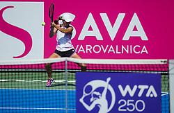 PORTOROZ, SLOVENIA - SEPTEMBER 14: Ziva Falkner of Slovenia competes during the 1st Round of WTA 250 Zavarovalnica Sava Portoroz at SRC Marina, on September 14, 2021 in Portoroz / Portorose, Slovenia. Photo by Vid Ponikvar / Sportida