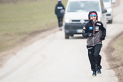 February 8, 2019 - Chiara Hoelzl of Austria warming up before first competition day of the FIS Ski Jumping World Cup Ladies Ljubno on February 8, 2019 in Ljubno, Slovenia. (Credit Image: © Rok Rakun/Pacific Press via ZUMA Wire)