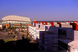 Stock photo of Minute Maid Park and the George R. Brown Convention Center