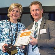 NLD/Amsterdam/20160121 - Uitreiking Taalhelden prijzen 2016 door Prinses Laurentien, Prinses Laurentien en Rob Weijers