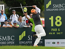 SINGAPORE, Jan. 17, 2019  Korea's player Choi Hosung competes during the first day of competition at the SMBC Singapore Open held in Singapore's Sentosa Golf Club on Jan 17, 2019. (Credit Image: © Then Chih Wey/Xinhua via ZUMA Wire)