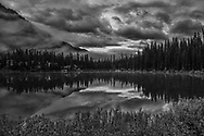 Reflection of clouds and trees at Emerald Lake come together like a melodious symphony.
