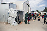 Asylum seekers in the Moria refugee camp, Lesvos island, Greece.