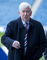 Rangers former manager John Greig before the Ladbrokes Scottish Premiership match at Ibrox Stadium, Glasgow. PRESS ASSOCIATION Photo. Picture date: Saturday March 17, 2018. See PA story SOCCER Rangers. Photo credit should read: Jeff Holmes/PA Wire. EDITORIAL USE ONLY