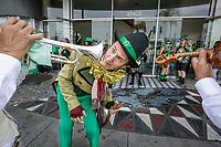 John Mackey in the spirit at the St. Patricks Day Parade in Canoga Park, CA. March 17, 2017.  Photo by David Sprague