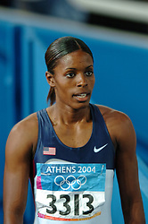 LaShauntea Moore USA in action during Olympics Games Athletics day 12 on August 24, 2004 in Olympic Stadion Spyridon Louis, Athens.