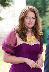 © London News Pictures. File pic dated 14/09/2013. Kathryn Blair, daughter of Tony Blair at The wedding of Euan Blair,  at All Saints Parish Church in Wotton Underwood, Buckinghamshire. Kathryn Blair was held up at gunpoint during an attempted robbery in Marylebone, central London while with her boyfriend.  Photo credit: Ben Cawthra/LNP