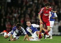 Photo: Paul Thomas/Sportsbeat Images.<br /> Blackburn Rovers v Liverpool. The FA Barclays Premiership. 03/11/2007.<br /> <br /> Yossi Benayoun (Red) is tackled by Blackburn pair David Dunn and Morten Gamst Pedersen (L).