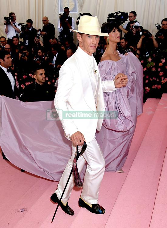Benedict Cumberbatch and Sophie Hunter attending the Metropolitan Museum of Art Costume Institute Benefit Gala 2019 in New York, USA.