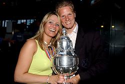 01-06-2003 NED: Amstelcup finale FC Utrecht - Feyenoord, Rotterdam<br /> FC Utrecht pakt de beker door Feyenoord met 4-1 te verslaan / Patrick Zwaanswijk en vriendin Doortje