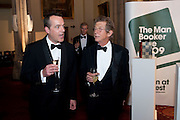DEREK HOOD; JOHN HURT, The 2009 Booker Prize dinner. Guildhall. London. 6 October 2009