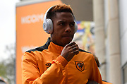 Hull City striker Abel Hernandez (9) arriving at the KCOM stadium before  the Premier League match between Hull City and West Ham United at the KCOM Stadium, Kingston upon Hull, England on 1 April 2017. Photo by Ian Lyall.