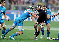Rome, Italy -In the photo Read opposed by Minto during .Olympic stadium in Rome Rugby test match Cariparma.Italy vs New Zealand (All Blacks). (Credit Image: © Gilberto Carbonari).