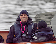 Greater London. United Kingdom, Oxford Chief coach, Sean BOWDEN. 164th. Men's University Boat Race Oxford University vs Cambridge University Putney to Mortlake,  Championship Course, River Thames, London. <br /> <br /> Saturday  24/03/2018<br /> <br /> [Mandatory Credit:Intersport Images]