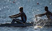 Brandenburg. GERMANY.<br /> RUS M2-. 2016 European Rowing Championships at the Regattastrecke Beetzsee<br /> <br /> Sunday  08/05/2016<br /> <br /> [Mandatory Credit; Peter SPURRIER/Intersport-images]