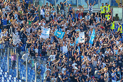 October 20, 2018 - Rome, Rome, Italy - 20th October 2018, Stadio Olimpico, Rome, Italy; Serie A Football, Roma versus Spal; supporters of Spal celebrate after his player Kevin Bonifazi scored a goal for the 0-2 in the 56th minute (Credit Image: © Giampiero Sposito/Pacific Press via ZUMA Wire)