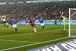 06.11.2011, AWD-Arena, Hannover, GER, 1.FBL, Hannover 96 vs FC Schalke 04, im Bild ein nicht gegebener treffer von Mohamed Abdellaoue (Hannover #25) .// during the match from GER, 1.FBL, Hannover 96 vs  FC Schalke 04 on 2011/11/06, AWD-Arena, Hannover, Germany. .EXPA Pictures © 2011, PhotoCredit: EXPA/ nph/  Schrader       ****** out of GER / CRO  / BEL ******