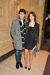 SAM ROLLINSON and MATT RICHARDSON at the opening night of Amaluna by Cirque Du Soleil at The Royal Albert Hall, London on 19th January 2016.