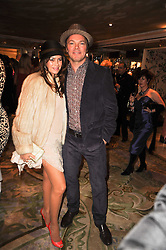 PETE TONG and his wife CAROLINA at the Fantasy Ball in aid if children's cancer charity CLIC Sargent held at The Dorchester, Park Lane, London on 11th November 2010.