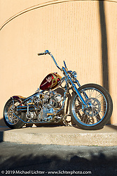 Bobby Seeger Jr's latest Indian Larry Motorcycles Knucklehead at Willie's Tropical Tattoo annual Old School Bike Show during Daytona Bike Week. FL, USA. March 13, 2014.  Photography ©2014 Michael Lichter.