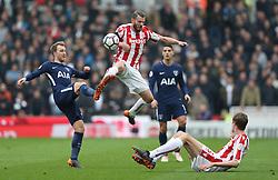 Stoke City's Erik Pieters and Tottenham Hotspur's Christian Eriksen battle for the ball