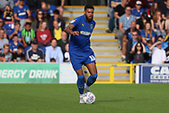 AFC Wimbledon striker Jake Jervis (10) dribbling during the EFL Sky Bet League 1 match between AFC Wimbledon and Scunthorpe United at the Cherry Red Records Stadium, Kingston, England on 15 September 2018.