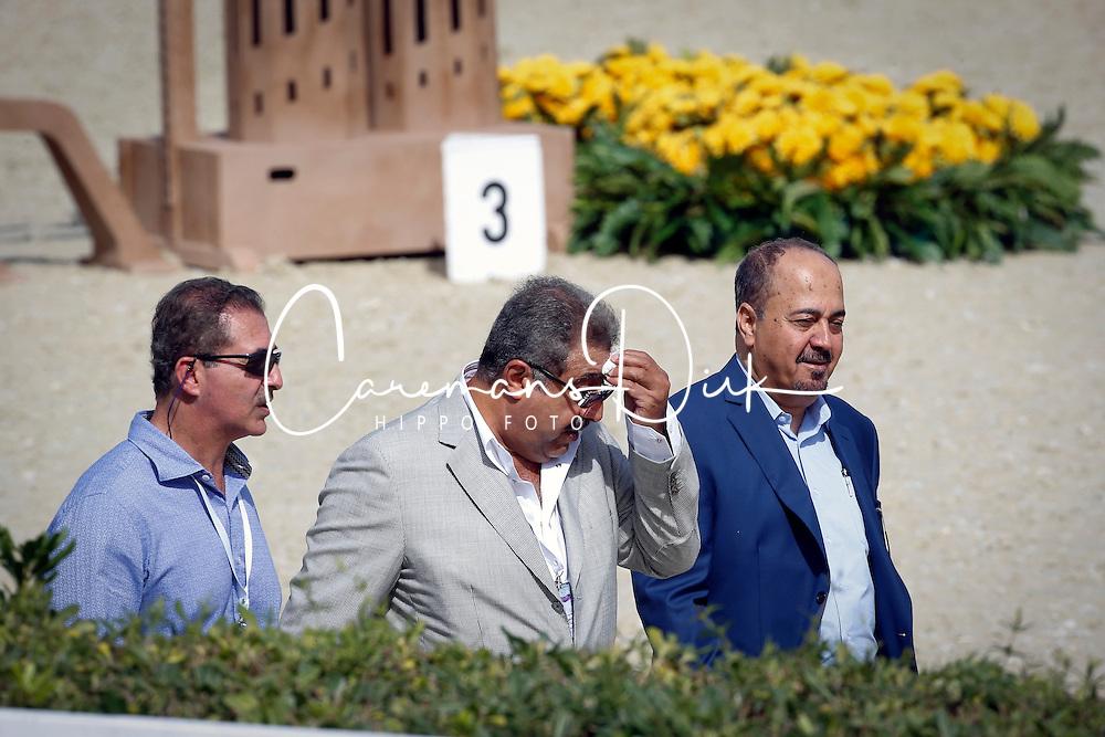 Ziyad Abduljawal, …, Abdul Rahman Al Hazza'a (President of the Saudi Broadcasting Corporation)<br /> Furusiyya FEI Nations Cup Jumping Final Round 1<br /> CSIO Barcelona 2013<br /> © Dirk Caremans