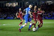 Peterborough United midfielder Marcus Maddison (21) bears down on goal  during  the The FA Cup 2nd round match between Peterborough United and Bradford City at London Road, Peterborough, England on 1 December 2018.
