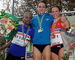 27-11-2011 ATLETIEK: NK CROSS 53e WARANDELOOP: TILBURG<br /> Adrienne Herzog wint in 27:29 het NK Cross, silver for Simret Restle GER and bronze Sabrina Mockenhaupt GER<br /> ©2011-FotoHoogendoorn.nl
