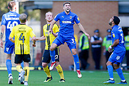 Wimbledon defender Ben Purrington (3), on loan from Rotherham United, in action  during the EFL Sky Bet League 1 match between Burton Albion and AFC Wimbledon at the Pirelli Stadium, Burton upon Trent, England on 1 September 2018.