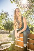 Blonde Girl at Los Rios Park in San Juan Capistrano