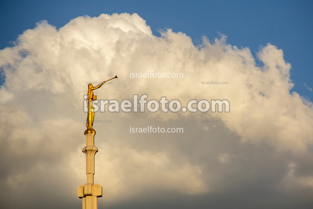 Mexico City. October 6th, 2012. Angel Moroni statue atop of the Mexico City  Temple.