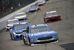 July 22, 2018 - Loudon, New Hampshire, United States of America - Ricky Stenhouse, Jr (17) battles for position during the Foxwoods Resort Casino 301 at New Hampshire Motor Speedway in Loudon, New Hampshire. (Credit Image: © Justin R. Noe Asp Inc/ASP via ZUMA Wire)