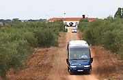 Dirt road leading up to the winery. Herdade da Malhadinha Nova, Alentejo, Portugal