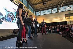 LowRide Magazine Italy's bike show award ceremony at Motor Bike Expo. Verona, Italy. Sunday January 21, 2018. Photography ©2018 Michael Lichter.