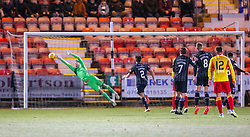Partick Thistle's Reece Cole scoring their goal. Dunfermline 5 v 1 Partick Thistle, Scottish Championship game played 30/11/2019 at Dunfermline's home ground, East End Park.