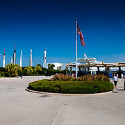 Ticket booths to Kennedy Space Center Museum on Cape Canaveral, Florida