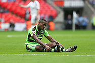 Forest Green Rovers Dale Bennett(6) during the Vanarama National League Play Off Final match between Tranmere Rovers and Forest Green Rovers at Wembley Stadium, London, England on 14 May 2017. Photo by Shane Healey.