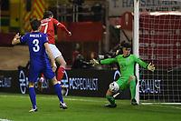 Football - 2020 / 2021 Emirates FA Cup - Round Five - Barnsley vs Chelsea - Oakwell Stadium<br /> <br /> Chelsea's Kepa Arrizabalaga saves from Barnsley's Callum Brittain.<br /> <br /> COLORSPORT/ASHLEY WESTERN