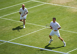 30.06.2012, Wimbledon, London, ENG, ATP World Tour, The Championships Wimbledon, im Bild Kenneth Skupski and Jamie Delgado (GBR) during the Gentlemen's Doubles 2nd Round match during day six of the ATP world Tour Wimbledon Lawn Tennis Championships at the All England Lawn Tennis and Croquet Club, London, Great Britain on 2012/06/30. EXPA Pictures © 2012, PhotoCredit: EXPA/ Propagandaphoto/ David Rawcliff..***** ATTENTION - OUT OF ENG, GBR, UK *****