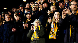Cambridge United fans applaud their side ahead of the FA Cup fixture with Leeds United - Mandatory by-line: Robbie Stephenson/JMP - 09/01/2017 - FOOTBALL - Cambs Glass Stadium - Cambridge, England - Cambridge United v Leeds United - FA Cup third round
