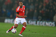 Ashley Williams of Wales in action. Wales v Northern Ireland, International football friendly match at the Cardiff City Stadium in Cardiff, South Wales on Thursday 24th March 2016. The teams are preparing for this summer's Euro 2016 tournament.     pic by  Andrew Orchard, Andrew Orchard sports photography.