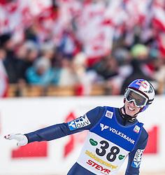 11.01.2014, Kulm, Bad Mitterndorf, AUT, FIS Ski Flug Weltcup, Bewerb, im Bild Gregor Schlierenzauer (AUT) // Gregor Schlierenzauer (AUT) during the FIS Ski Flying World Cup at the Kulm, Bad Mitterndorf, Austria on <br /> 2014/01/11, EXPA Pictures © 2014, PhotoCredit: EXPA/ JFK